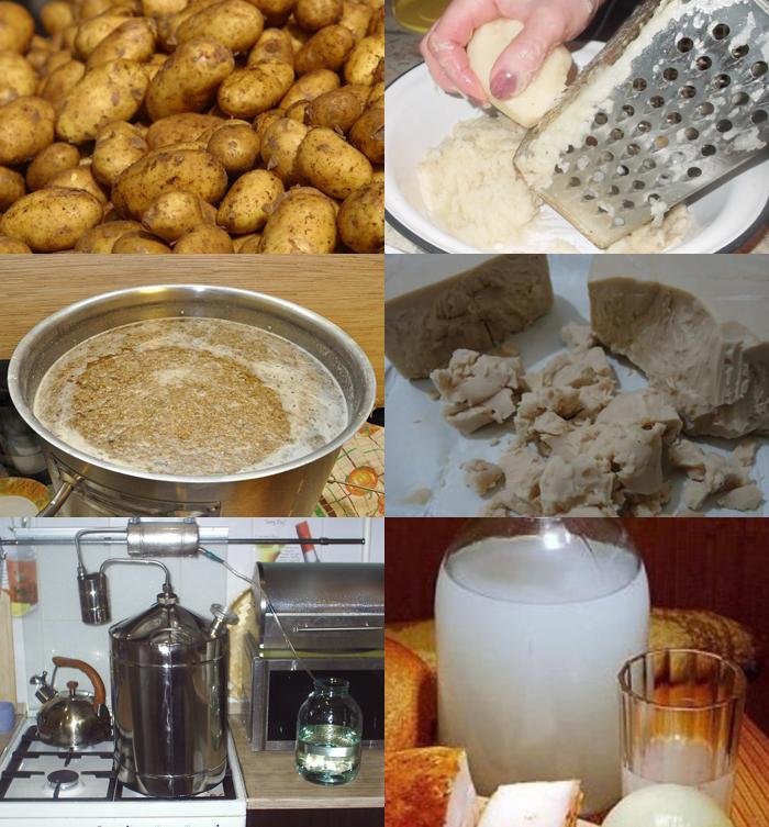 Как из картошки сделать самогон