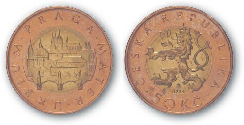 1995 BEST TRADE Czech Republic, 50 Korun, Bi-Metallic, Prague City