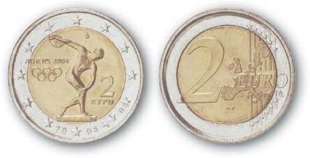 2006 BEST TRADE Greece, 2 Euro, Bi-Metallic, Olympic Discus Thrower