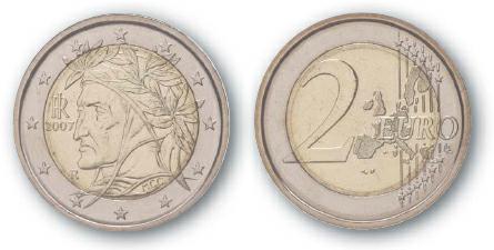 2009 BEST TRADE Italy, 2 Euro, Bi-Metallic, Raphael's Dante Alighieri