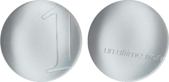 2003 France, 1 Franc, Silver, The Last Franc