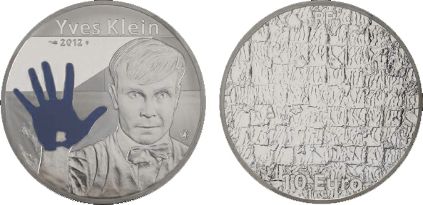 2014 Monnaie de Paris, 10 Euro, Silver, Yves Klein