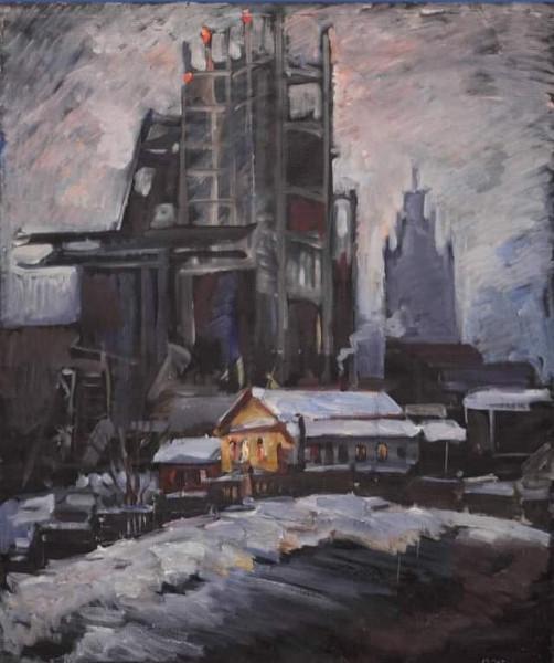 Здание СЭВ в снегах и пессимизме