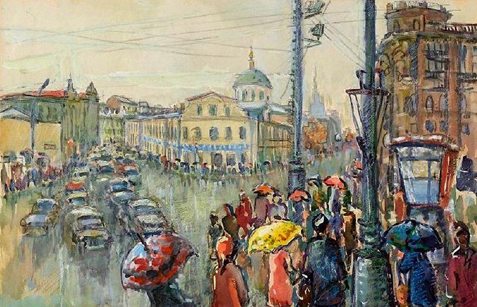 Дождь у Никитских ворот
