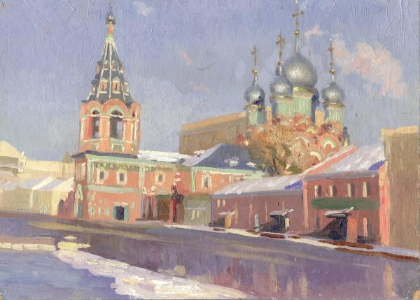 church_in_polanka_street,oil_on_broad,29h20sm