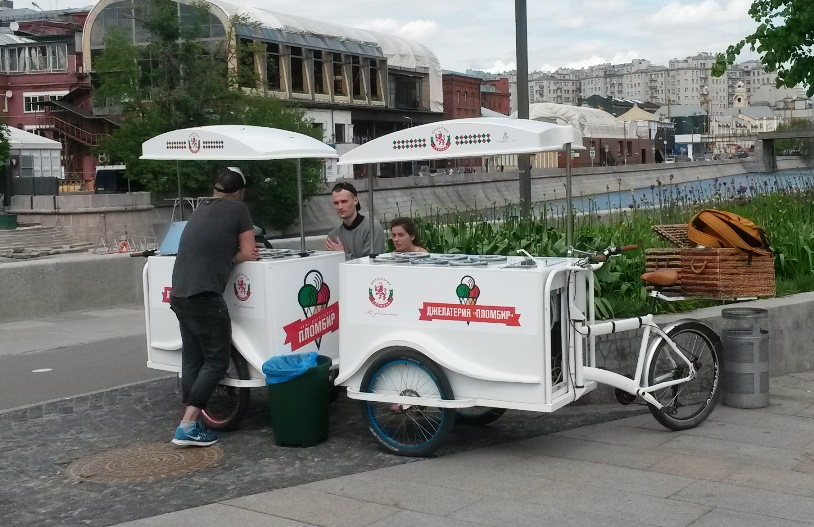 Московское мороженное на велосипедной тяге.