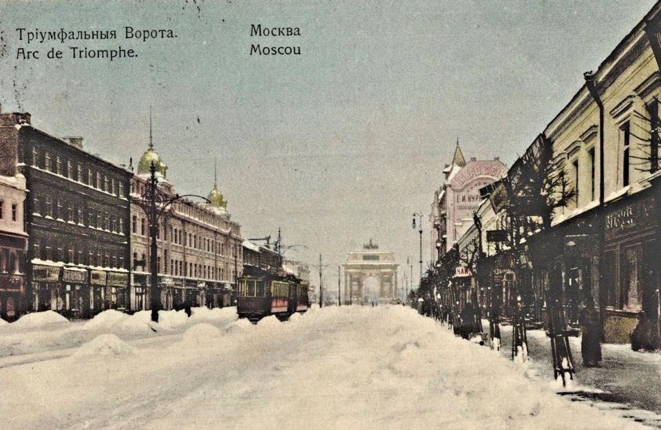 Снег на Тверской-Ямской..
