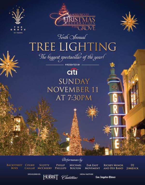 2012-11-11 The Grove tree lighting
