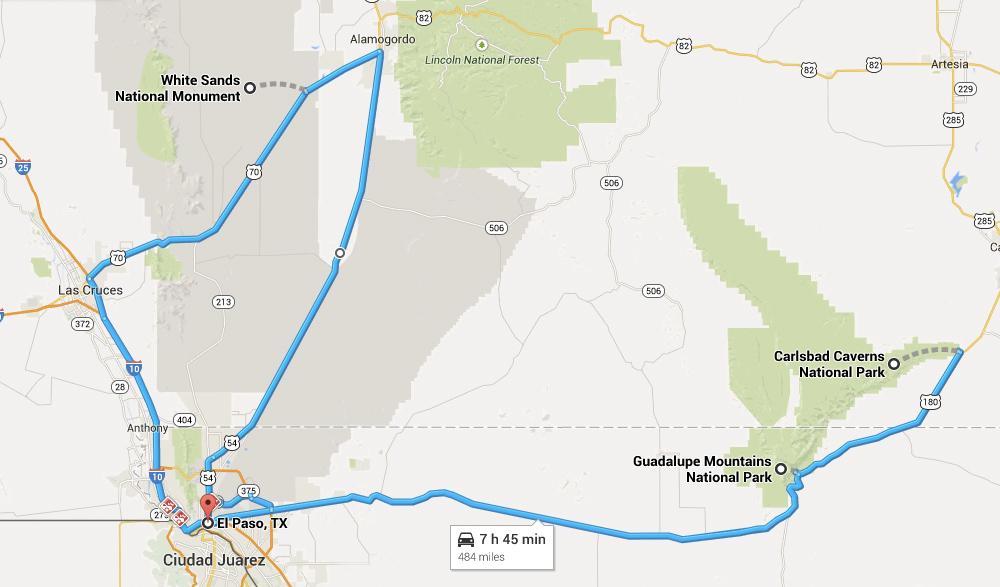 2. Из Эль Пасо до Белых песков