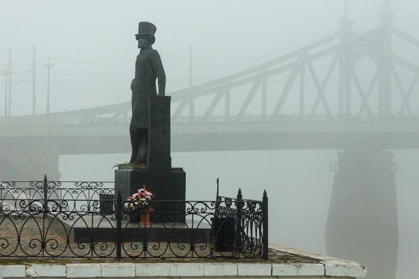 Туманное утро в Твери
