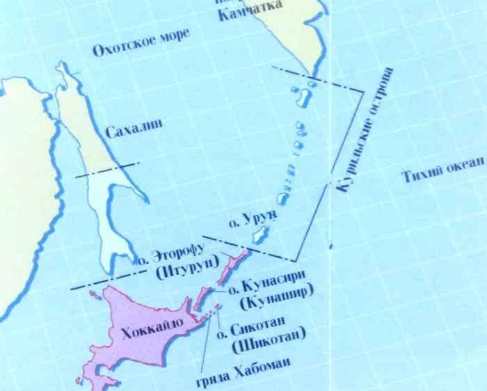 Пол-Сахалина и курилы отдали Японии.