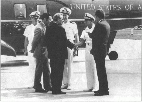 Встреча с американскими астронавтами П Вейтц Суходрев Брежнев Дж Кервин Ч Конрад РНиксон