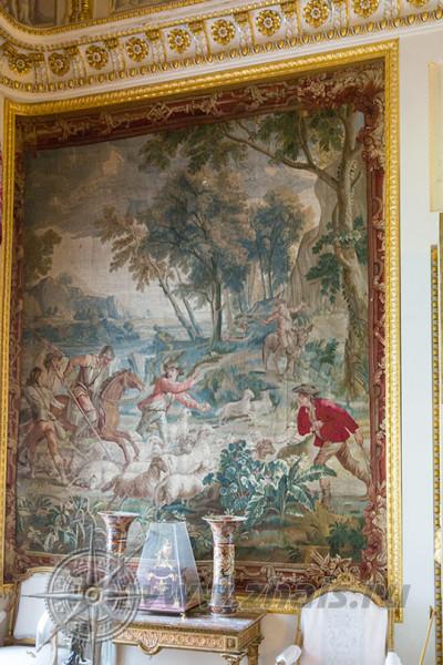 брюссельские шпалеры 18 века Дон Кихот нападающий на стадо овец