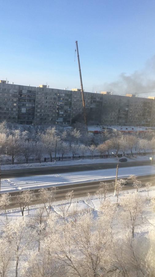 пожар на месте взрыва3