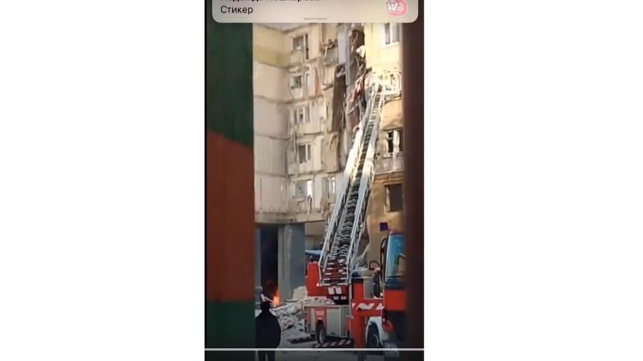 пожар на месте взрыва6