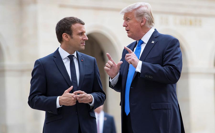 трамп и макрон2