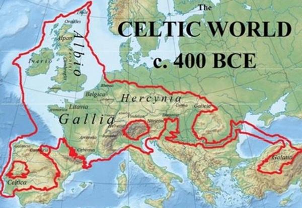 карта кельтов