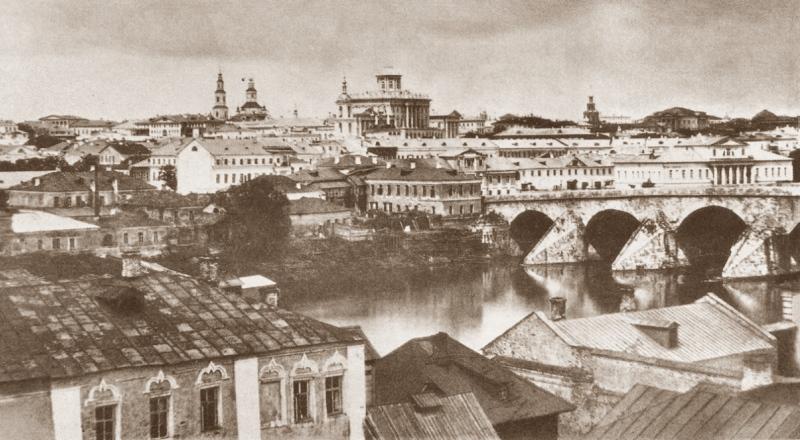 москва большой каменный мост 1857г-2