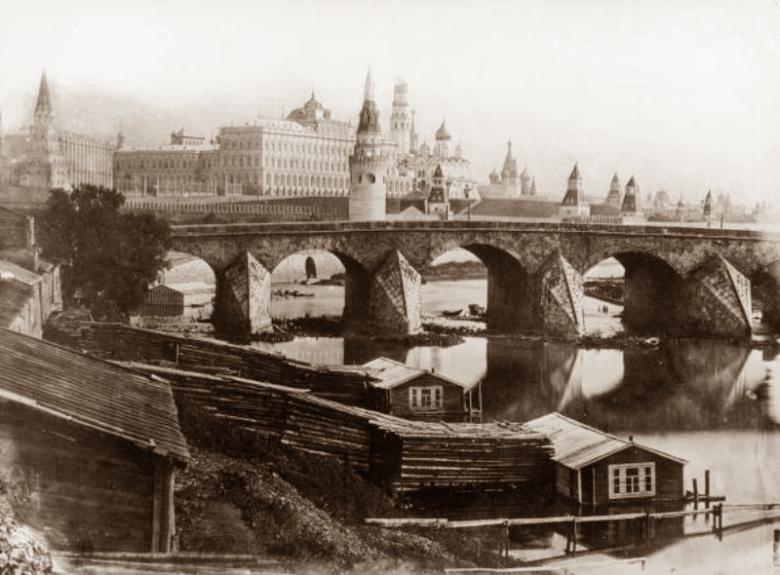 москва большой каменный мост 1867г