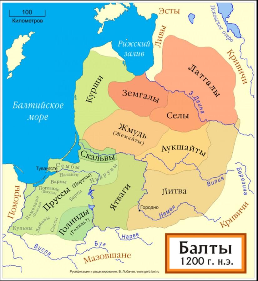племена пруссов 1200 г-13 век
