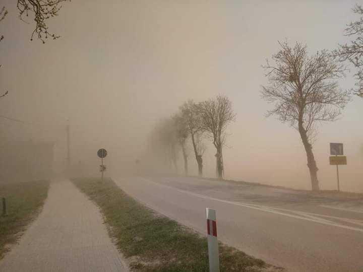 пылевая буря польша