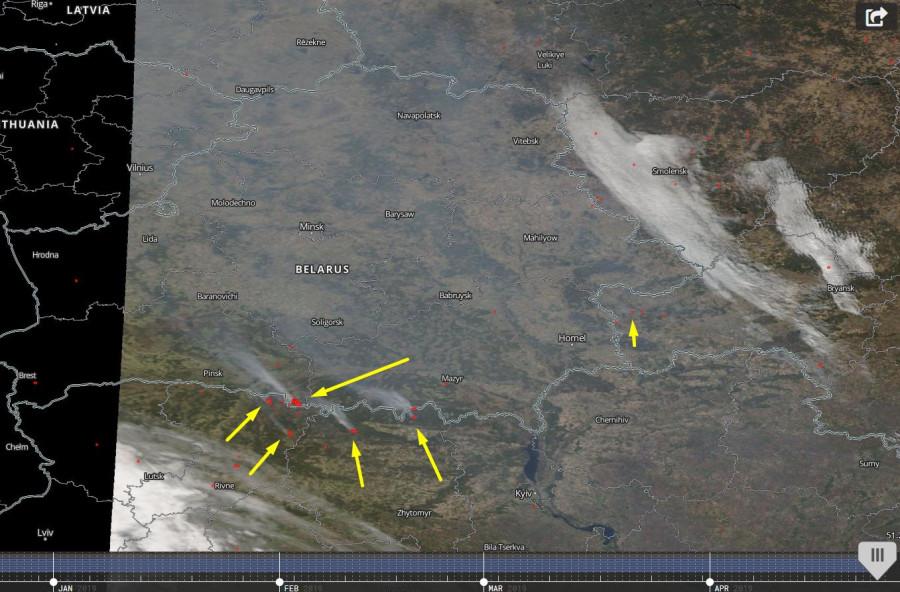 пыль пожары на гранце с украиной