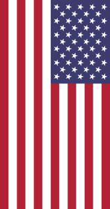 флаг США вертикально