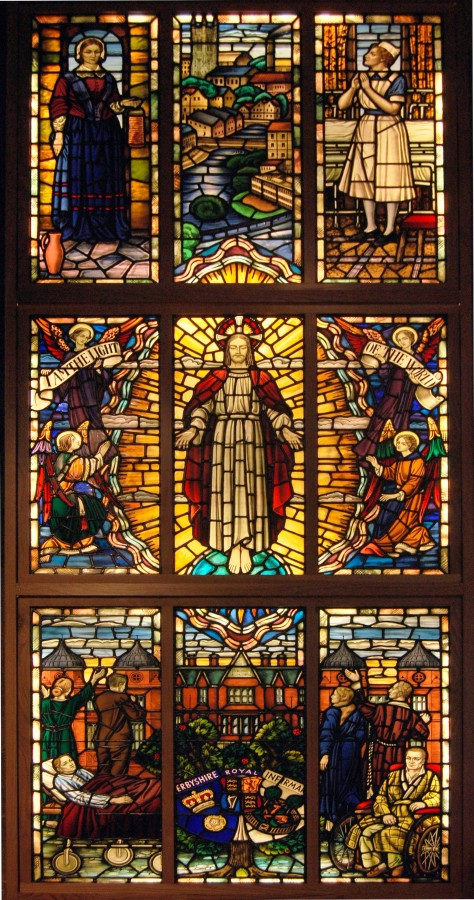 Derby_DRI_stained_glass_window_at_St_Peters_squared