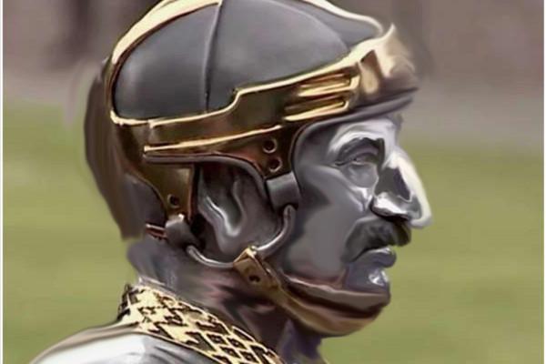 лука в шлеме железный3