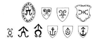 польские тамги11-13 век