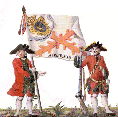 Uniform_and_colonel's_flag_of_the_Hibernia_Regiment