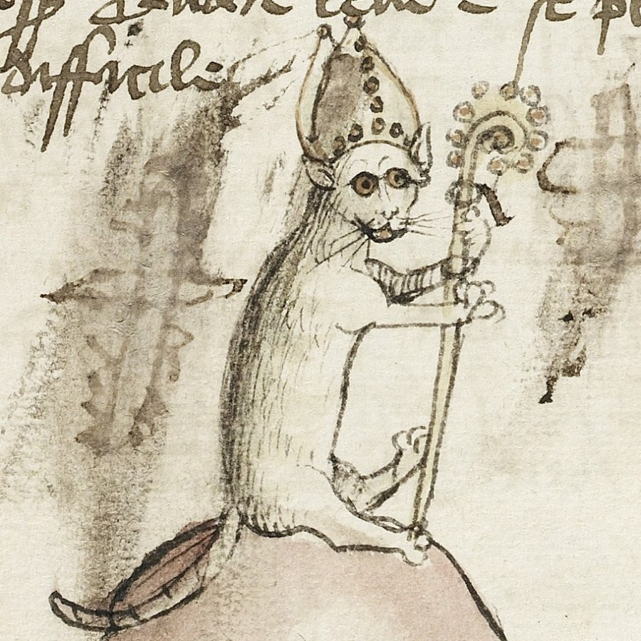 Cat-holic bishop Fables Germany 15th century