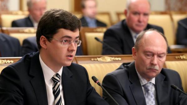 Исполнительный директор кластера энергоэффективных технологий Фонда  Сколково Василий Белов на заседании Правительства