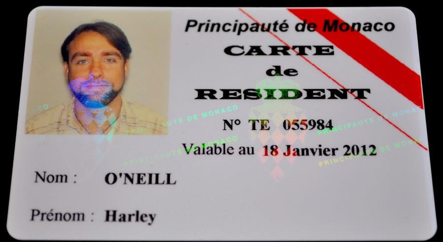 Monaco Resident Card