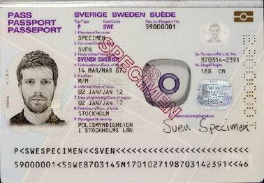 Шведский паспорт