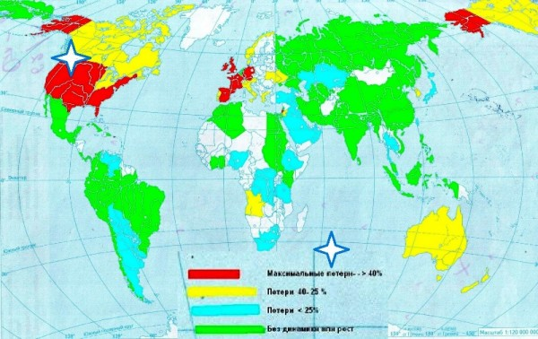 карта депопуляции