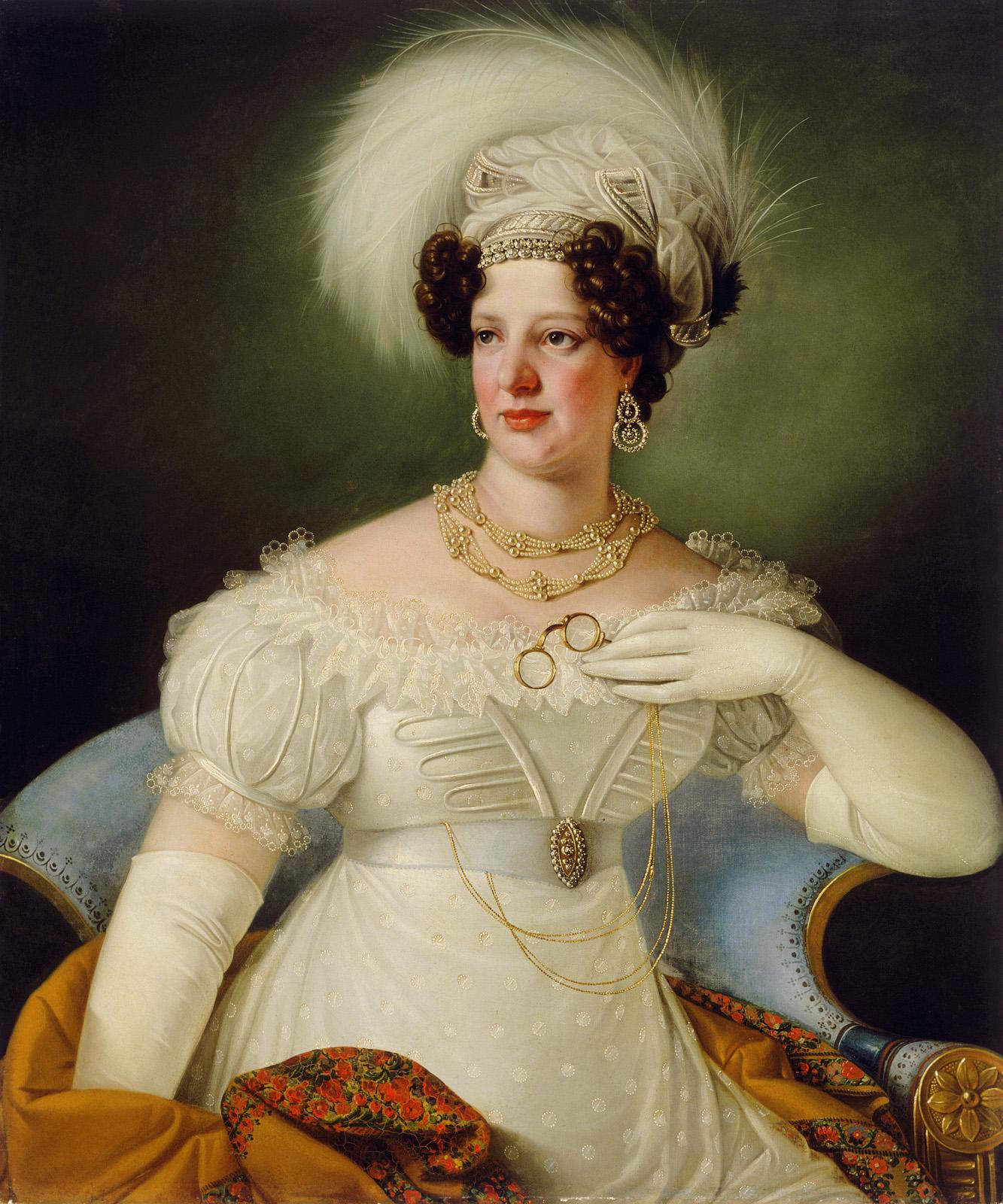 1822 Countess Cecilia d'Auersperg by Giuseppe Tominz (Narodna Galerija, Ljubljana Slovenia)