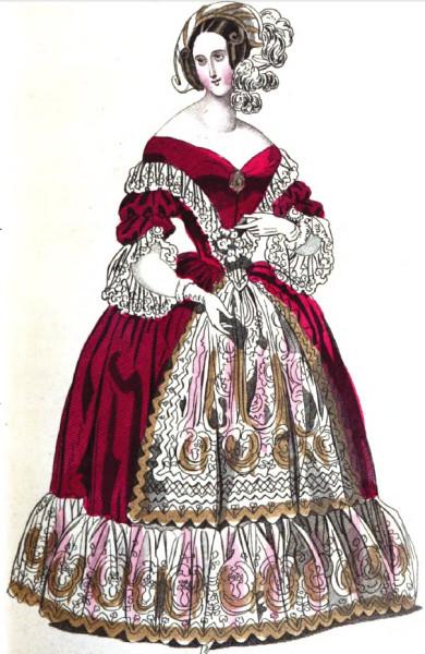 1840 dinner dress