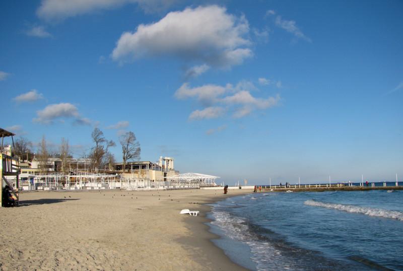 Черное море в Одессе и район Аркадия