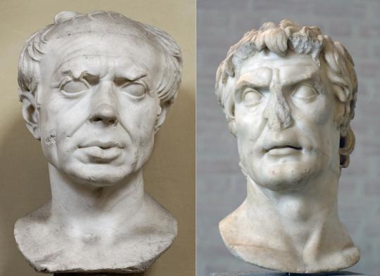 Гай Марий (слева) и луций Корнелий Сулла (справа).