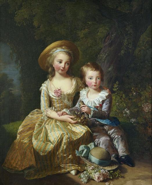 Луи Жозеф с сестрой. Элизабет Виже-Лебрён, 1784.