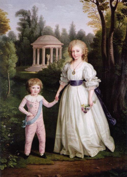 Луи Шарль с сестрой Марией Терезой Шарлоттой. Людвиг Гуттенбрунн, 1789.