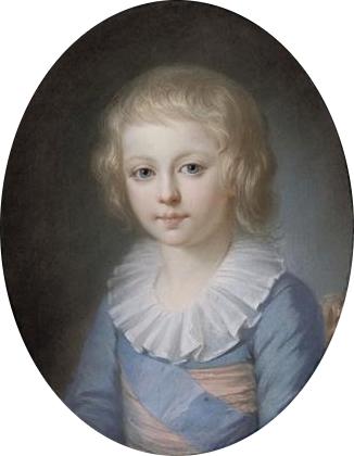 Луи Шарль в пятилетнем возрасте.