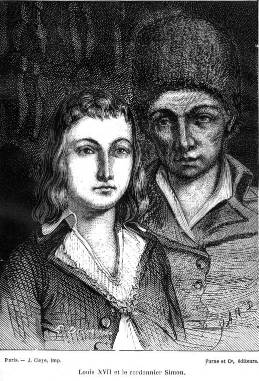 Луи Шарль и сапожник Антуан Симон. Ян Дарджент, 1866. Изображение с сайта fr.wikipedia.org.
