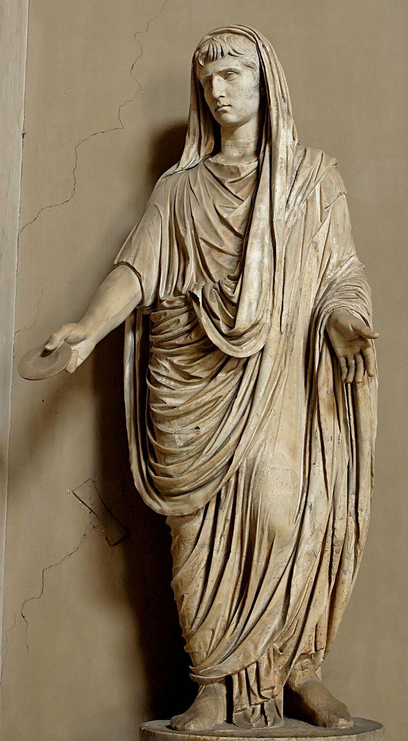 Август в образе Великого понтифика.