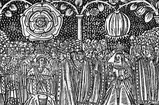 Коронация Генриха и Екатерины. Гравюра XVI века.