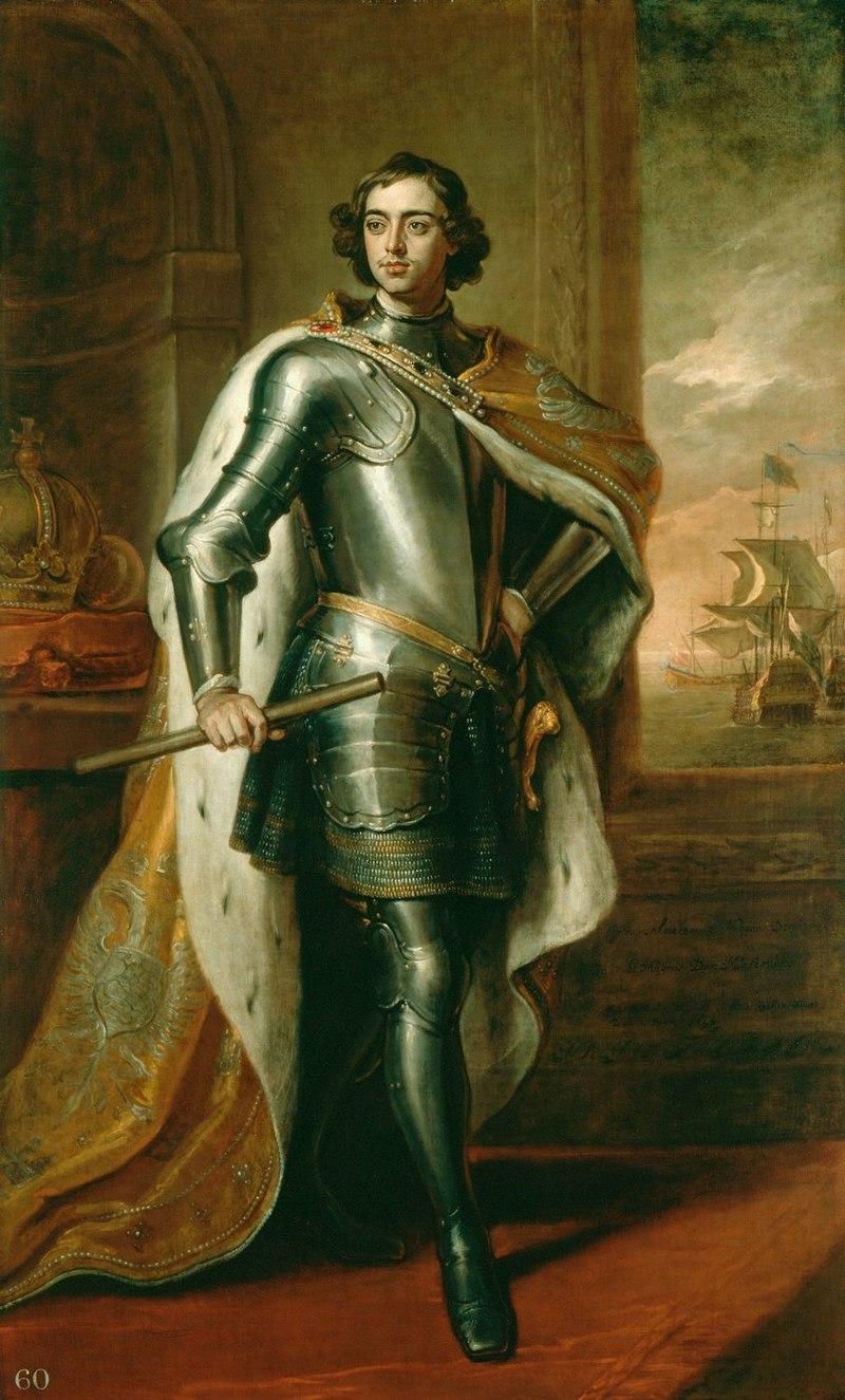 Пётр I. Готфрид Кнеллер, 1698. В год основания Школы царь был немногим старше - на портрете ему 26 лет, а в начале 1701 года было 28.