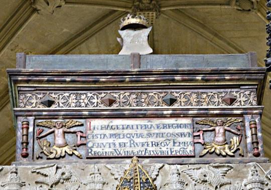 Реликварий короля Кнута в Винчестерском соборе.