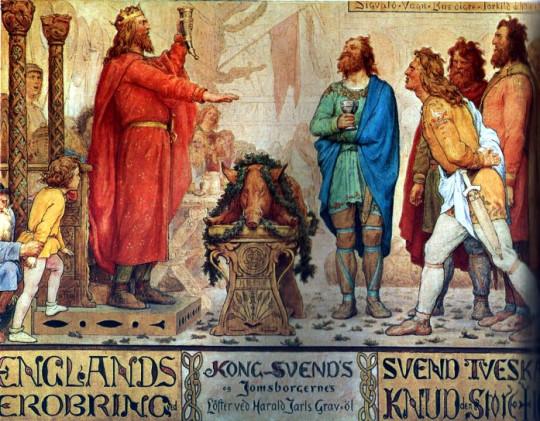 Король Свен. Лоренц Фрёлих. Кто знает, может маленький мальчик слева и есть Кнут?