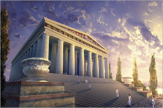 Храм Артемиды в Эфесе. Современное изображение. Источник: travel4us.ru.